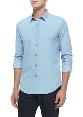 Theory Chambray Long-Sleeve Woven Shirt