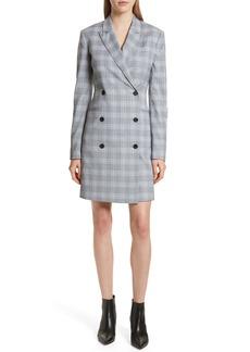 Theory Check Plaid Blazer Dress