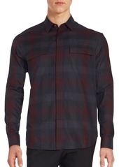 Theory Checked Long Sleeve Sportshirt