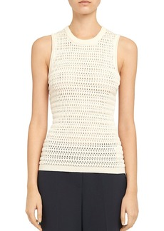 Theory Cheri Cotton-Viscose Textured Tank Top