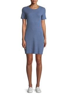 Theory Cherry B3 Stirling Rib-Knit Shirt Dress