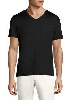 Theory Claey Plaito Regular-Fit V-Neck Tee