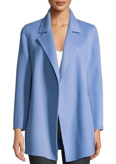 b3e42a509a Theory Clairene Open-Front New Divide Wool-Cashmere Coat