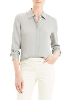 Theory Classic Fitted Stretch Silk Shirt