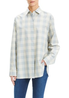 Theory Classic Menswear Cotton & Silk Shirt