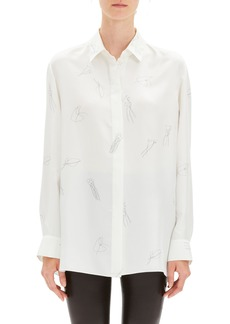 Theory Classic Menswear Silk Shirt