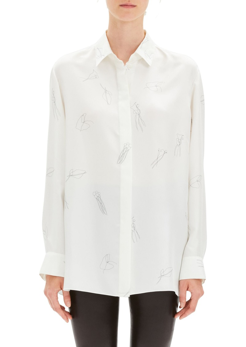 Theory Classic Menswear Silk Shirt