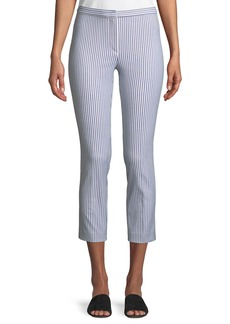 Theory Classic Sayre Stripe Skinny Ankle Pants