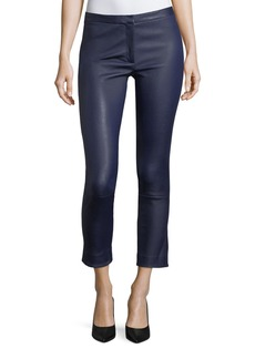 Theory Classic Skinny-Leg Bristol Leather Pants