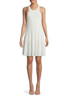 Theory Clean Cotton Ottoman Knit Knee-Length Tank Dress
