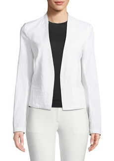 Theory Clean Crunch Wash Open-Front Blazer
