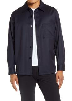 Theory Clyfford Portland Stretch Wool Blend Shirt Jacket