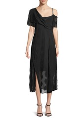 Theory theory coastal silk blend asymmetric dress abvea79e7ed a
