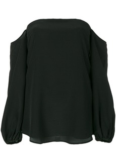 Theory cold shoulder blouse - Black
