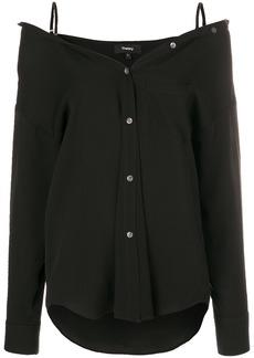 Theory cold shoulder shirt - Black