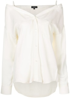 Theory cold shoulder shirt - White