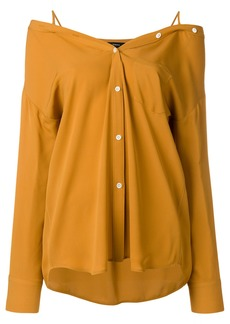 Theory cold shoulder shirt - Yellow & Orange