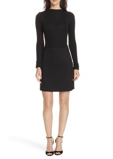Theory Combo Mock Neck Sweater Dress