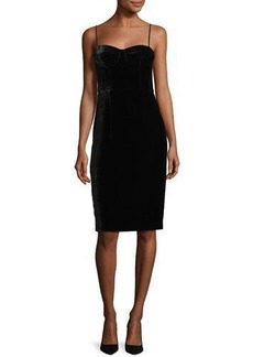 Theory Corset Luxe Velvet Sheath Dress
