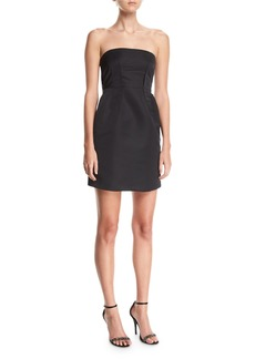 Theory Corset Strapless Tieback Satin Mini Dress