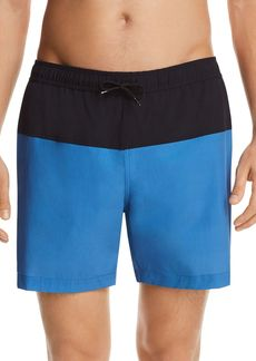 Theory Cosmos Color-Block Stretch Swim Trunks