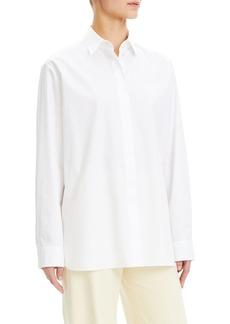 Theory Cotton Menswear Button-Down Shirt