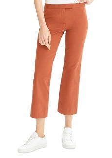 Theory Cotton-Stretch Cropped-Flare Pants