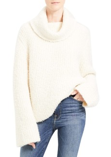 Theory Cowl Neck Bell Sleeve Alpaca & Wool Blend Sweater