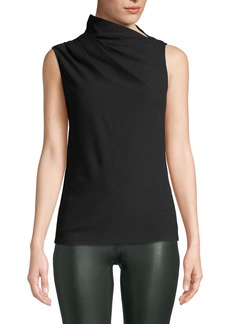 Theory Cowl-Neck Draped Sleeveless Top