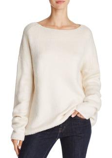 Theory Cozy Faux Fur Sweatshirt