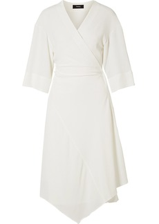 Theory Crepe Wrap Dress