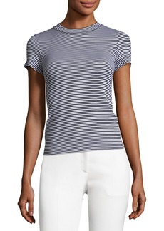 Theory Crewneck Apex Striped Tiny Tee