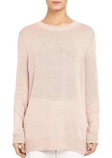 Theory Linen-Viscose Crewneck Sweater