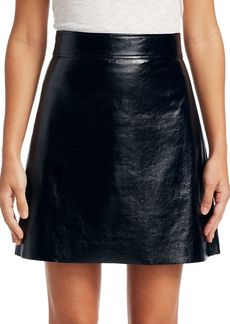 Theory Crinkle Patent Mini Skirt