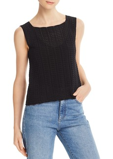 Theory Crochet Lace Tank