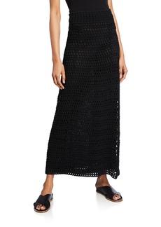 Theory Crochet Maxi Skirt