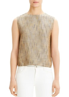 Theory Cropped Linen Shell