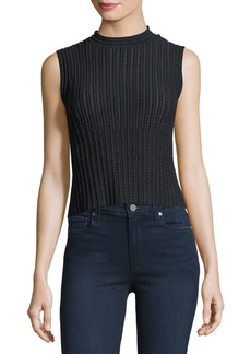Theory Cropped Novelty Checker Shell Top