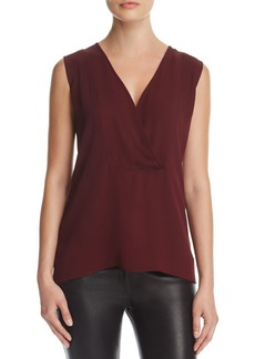 Theory Crossover Silk Shell Top