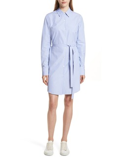 Theory Crowley Cotton Shirtdress