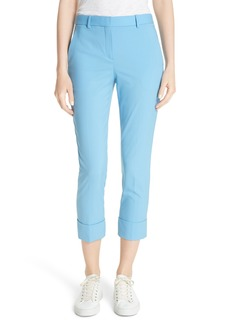 Theory Cuffed Stretch Wool Crop Pants
