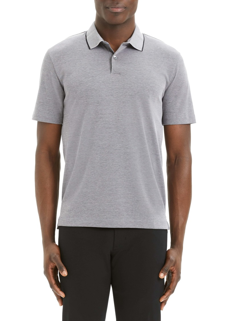 Theory Curren Slim Fit Tipped Piqué Polo
