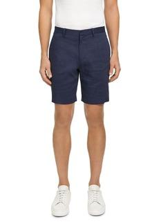 Theory Curtis Eco Crunch Linen-Blend Regular Fit Shorts