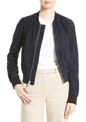 Theory Daryette S Benna Suede Bomber Jacket