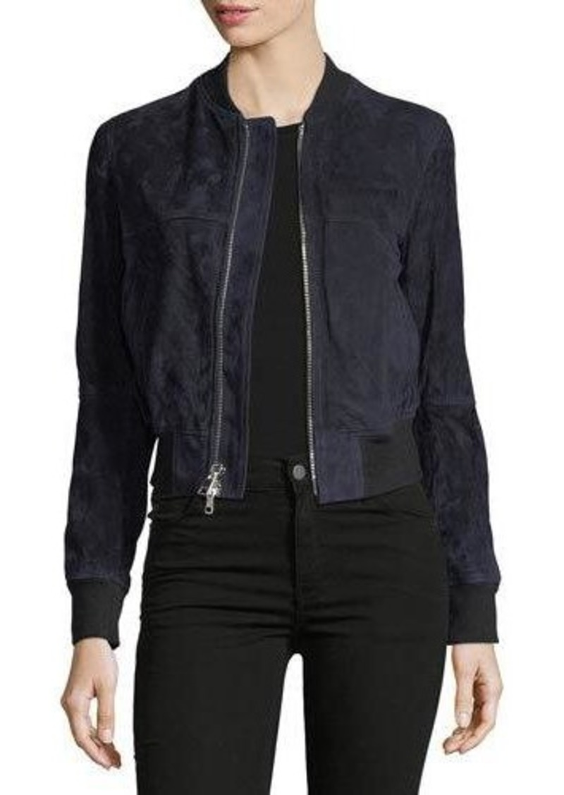 Theory Daryette S. Benna Suede Bomber Jacket