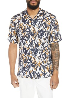 Theory Daze P Regular Fit Short Sleeve Sport Shirt