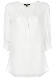 Theory deep v-neck blouse - White