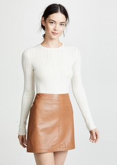 Theory Delicate Cable Crew Cashmere Sweater