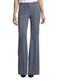 Theory Demitria 2 Eldora Stripe Flared-Leg Wool Pants