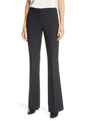 Theory Demitria 4 Windowpane Check Flare Leg Pants